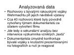 analyzovan data