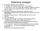 nalezen strategie