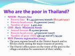 who are the poor in thailand