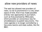 allow new providers of news