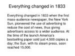 everything changed in 1833