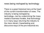 news being reshaped by technology