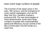 news reach large numbers of people
