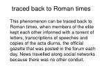 traced back to roman times