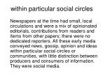 within particular social circles