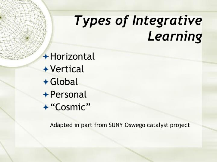 Types of Integrative Learning