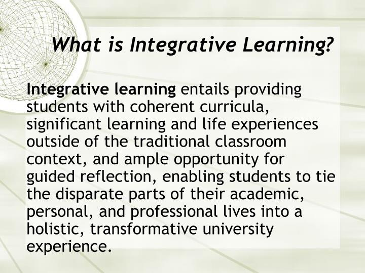 What is integrative learning