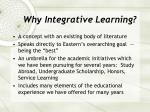 why integrative learning