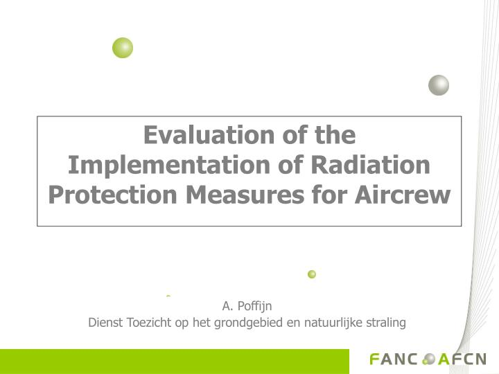 evaluation of the implementation of radiation protection measures for aircrew n.