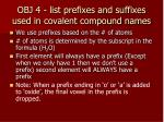 obj 4 list prefixes and suffixes used in covalent compound names