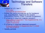 technology and software transfers