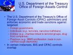 u s department of the treasury office of foreign assets control