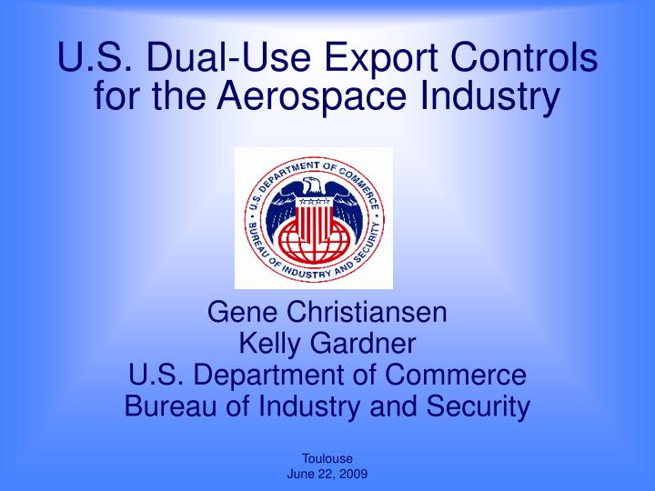 u s dual use export controls for the aerospace industry n.