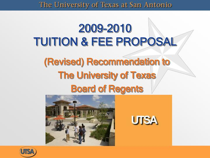 2009 2010 tuition fee proposal n.