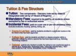 tuition fee structure