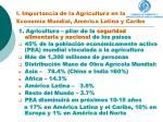 i importancia de la agricultura en la econom a mundial am rica latina y caribe