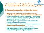 i importancia de la agricultura en la econom a mundial am rica latina y caribe1