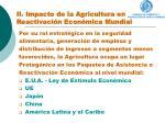 ii impacto de la agricultura en la reactivaci n econ mica mundial