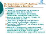 iii encadenamientos productivos particularidades y beneficios
