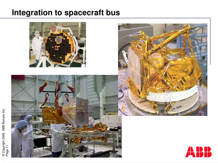 Integration to spacecraft bus