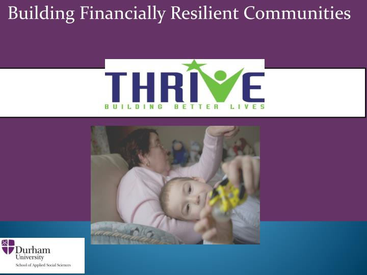 building financially resilient communities n.