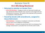 agenda item iii iii 4 bills being monitored