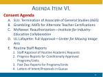 agenda item vi
