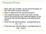 transmit power