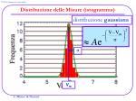distribuzione delle misure istogramma