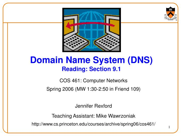 domain name system dns reading section 9 1 n.