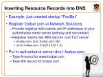 inserting resource records into dns