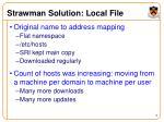 strawman solution local file