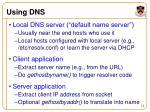 using dns