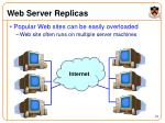 web server replicas