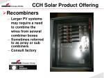 cch solar product offering