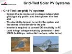 grid tied solar pv systems