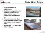 solar cord grips