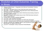 evolution of child outcomes training in illinois