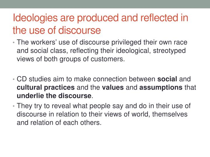 relationship between discourse ideology and hegemony or survival