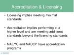 accreditation licensing
