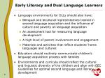 early literacy and dual language learners1