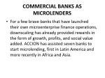commercial banks as microlenders1