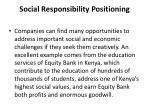 social responsibility positioning11