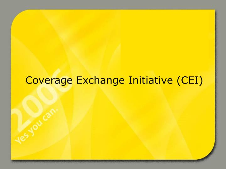 coverage exchange initiative cei n.