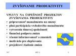 zvy ovanie produktivity