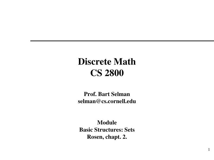 discrete math cs 2800 n.