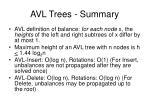 avl trees summary