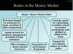 banks in the money market