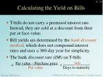 calculating the yield on bills
