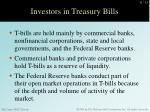investors in treasury bills